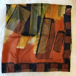 Dramatic Scarf Black Golds Made in Italy